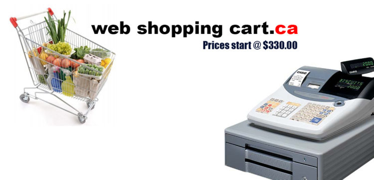Links to samples of shopping carts $330 e-commerce